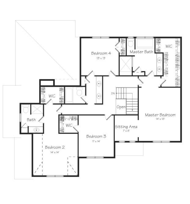 Atland Second Floor Plan