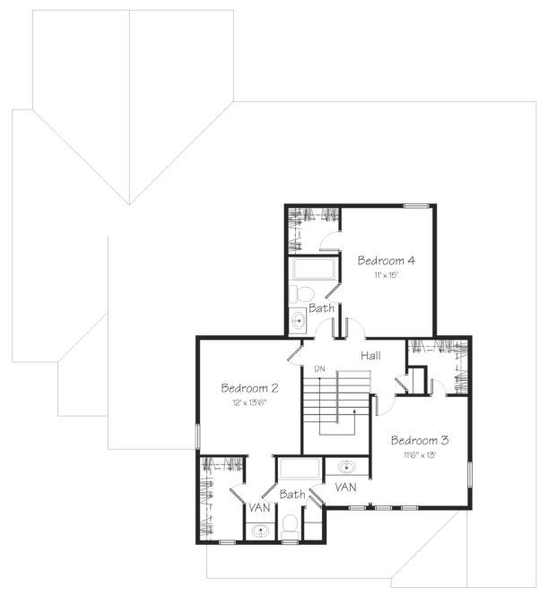 Beaumont Second Floor Plan