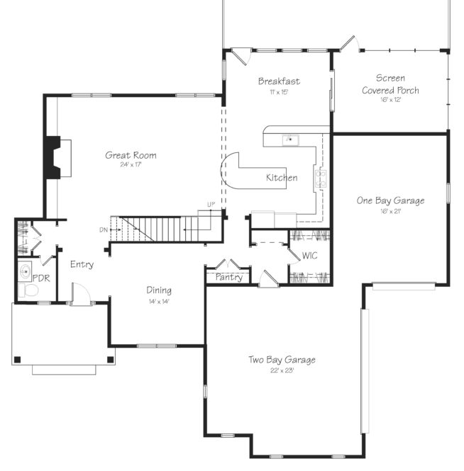 Glendale First Floor Plan