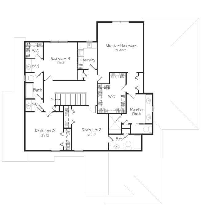 Glendale Second Floor Plan