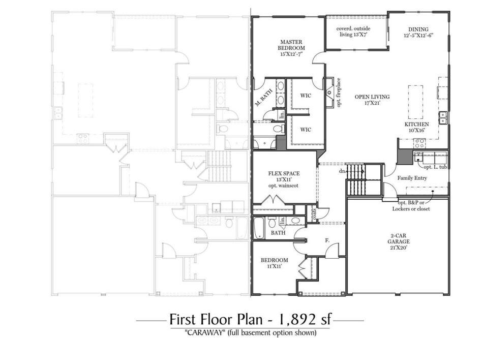 Caraway First Floor Plan