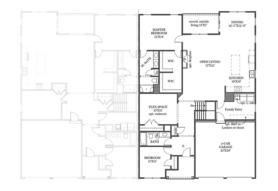 Caraway First Floor Plan