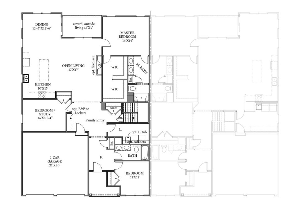 Saffron First Floor Plan