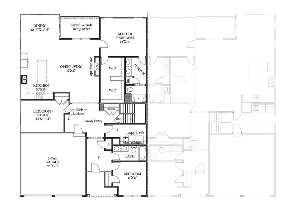 Saffron First Floor Plan