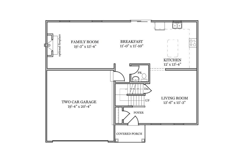 Archer First Floor Plan