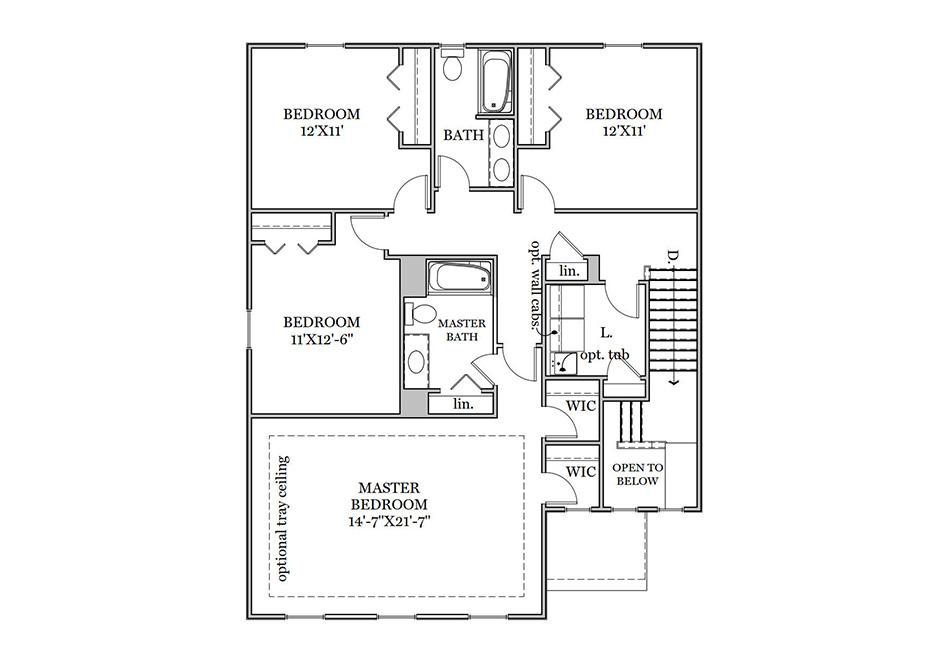 Ardmore Second Floor Plan