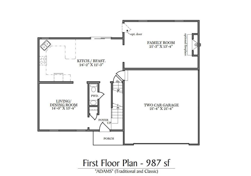 Adams First Floor Plan