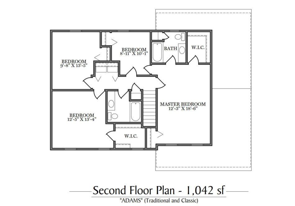 Adams Second Floor Plan