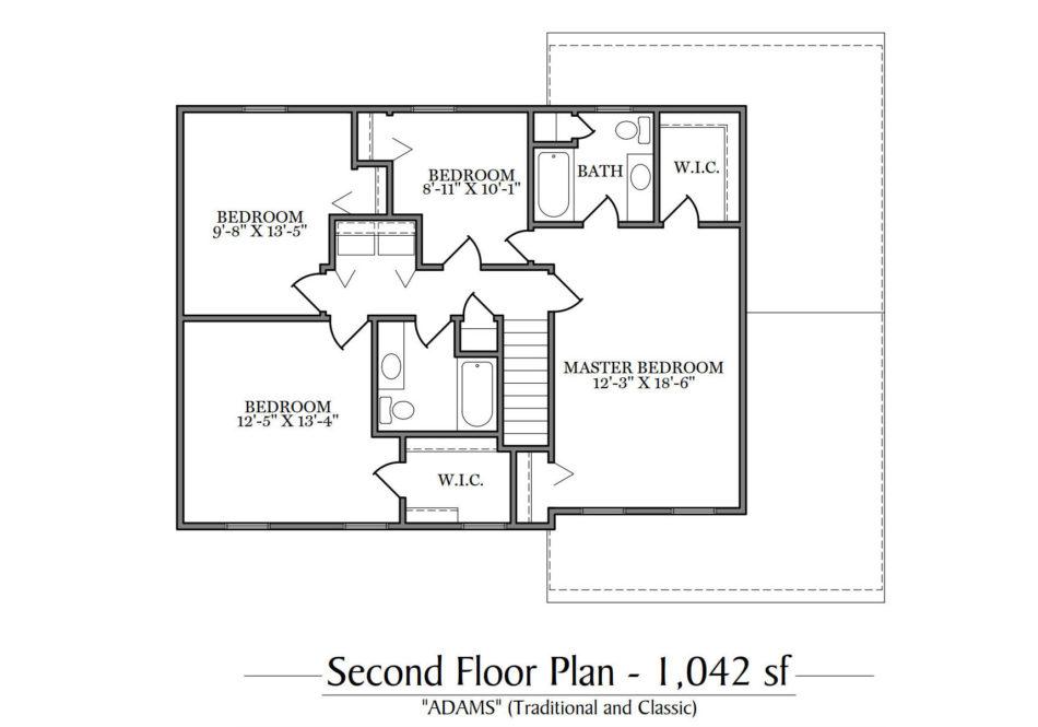 Adams Second Floor Plan