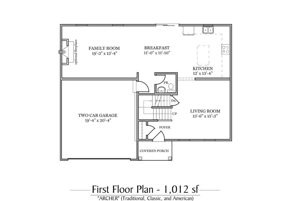 Archer First Floor Plan