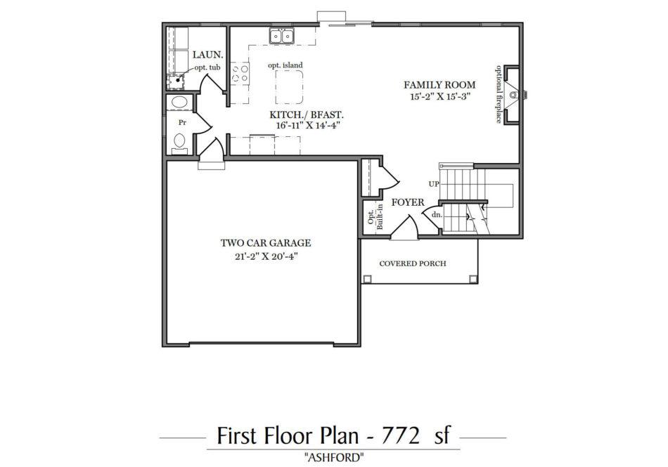 Ashford First Floor Plan