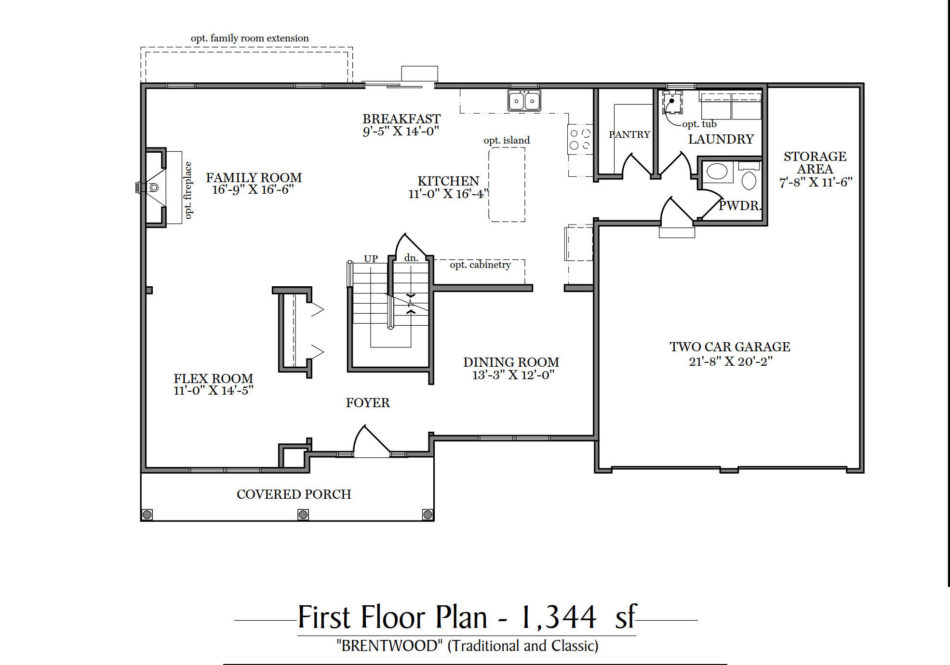 Brentwood First Floor Plan