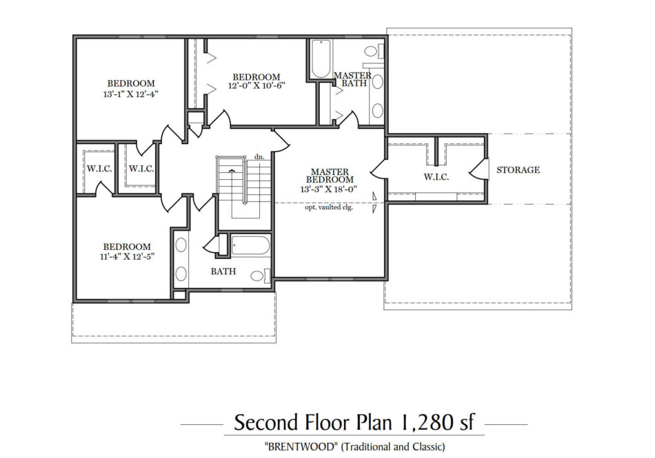 Brentwood Second Floor Plan