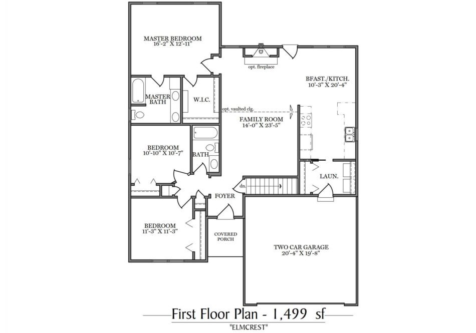 Elmcrest First Floor Plan