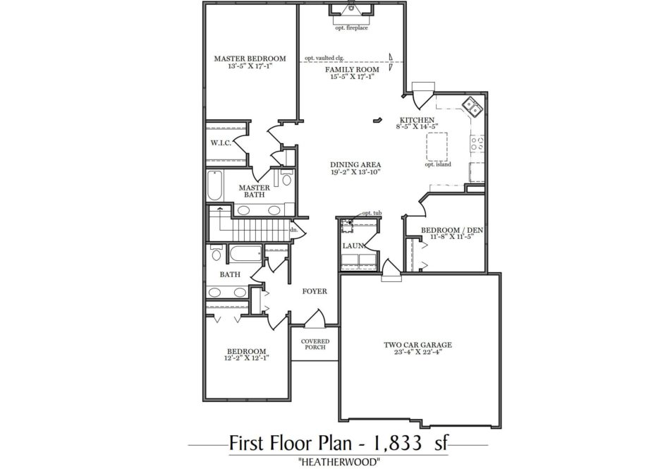 Heatherwood First Floor Plan
