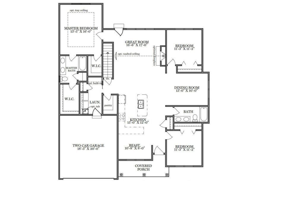 Hensley First Floor Plan