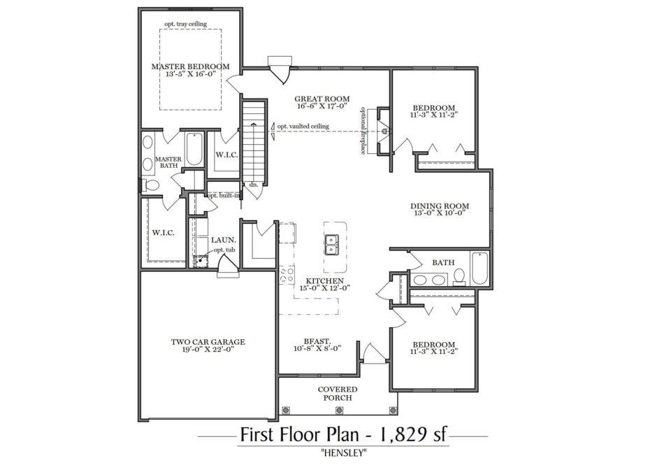 Hensley First Floor Plan