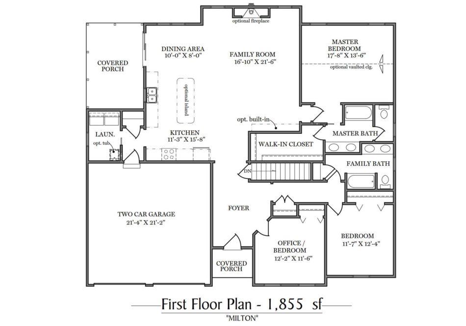 Milton First Floor Plan