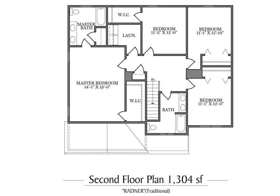 Radner Second Floor Plan