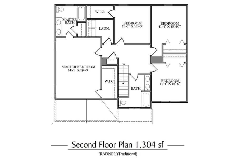 Radner Second Floor Plan