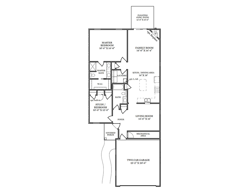 Clairmont First Floor Plan