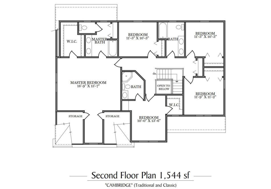 Cambridge Second Floor Plan
