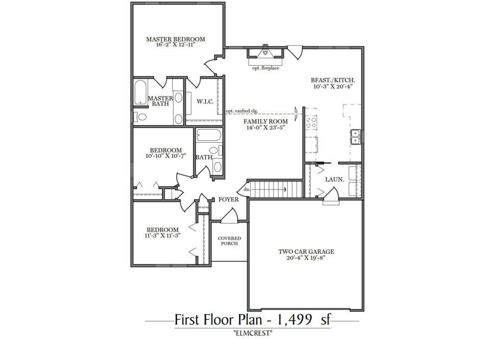 Elmcrest First Floor Plan