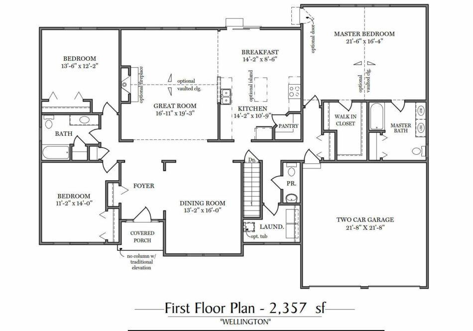 Wellington First Floor Plan