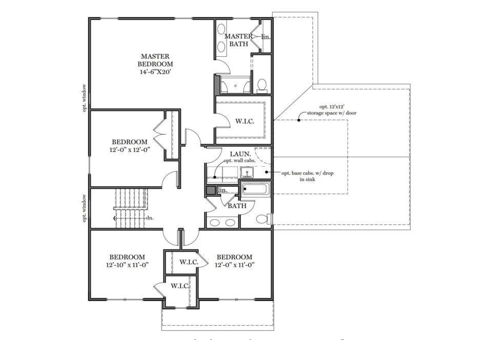 Glen Mary Second Floor Plan