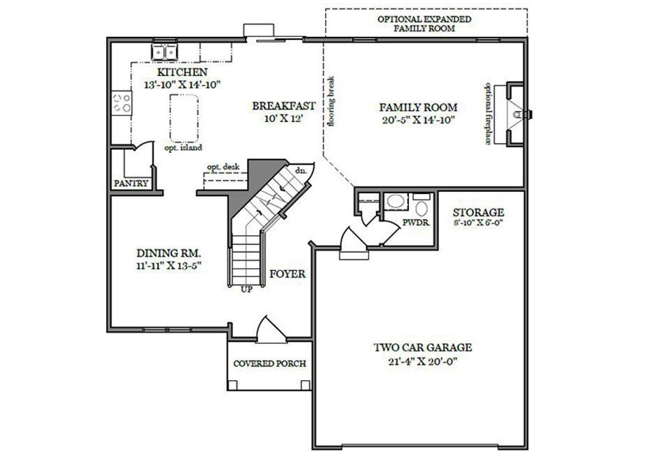 Danbury First Floor Plan